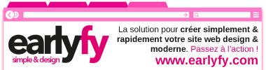 Earlyfy : création site internet pas cher simplement et rapidement